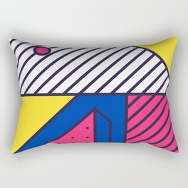 Festive Background in Neo Memphis Style Colorful Decorative pattern Rectangular Pillow