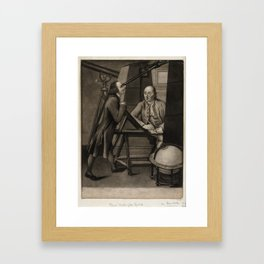 J Watson (1778) - Thomas Phelps and John Bartlett in the Macclesfield Observatory, Oxfordshire Framed Art Print