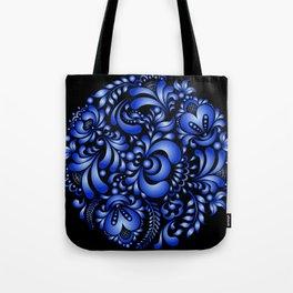 Gzhel black pattern Tote Bag