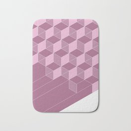 Cubed Expression – Pink / Purple Abstract Diamond Pattern Bath Mat