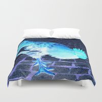 cock Duvet Covers featuring cock animal by habish