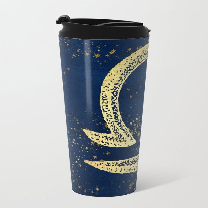 Libra Zodiac Sign Metal Travel Mug