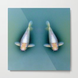 Fish Couple Under Water Metal Print