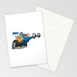 Top Fuel Dragster Cartoon Stationery Cards