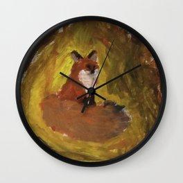 Abstract fox Wall Clock