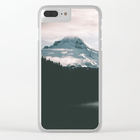 Mount Hood V Clear iPhone Case