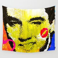 elvis presley Wall Tapestries featuring Elvis Presley II by Paola Gonzalez