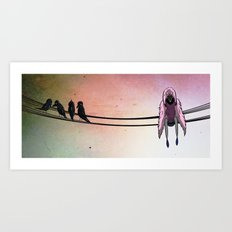 The Lonely Crow Art Print