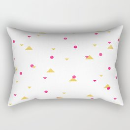 Triangle Explosion - Pink and Gold Rectangular Pillow