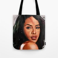 aaliyah Tote Bags featuring At Your Best by Tetevi Teteh