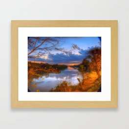 Night view of the Paraíba River Framed Art Print