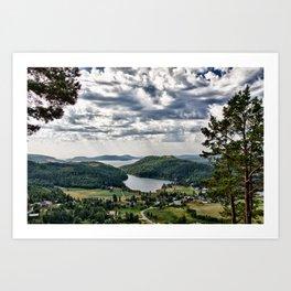 What A View! Art Print