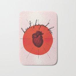 .heart shaped box. Bath Mat