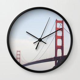Golden Gate at dusk Wall Clock