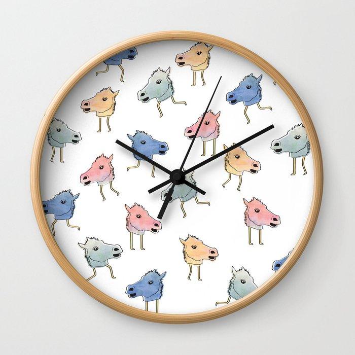 Horse Heads Wall Clock