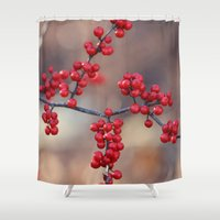 sparkles Shower Curtains featuring Berry Sparkles by BACK to THE ROOTS