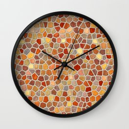 Fall Colors Mosaic Pattern - light Wall Clock