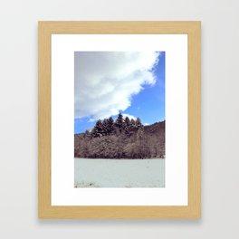 Christmas forrest Framed Art Print