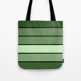 Green Stripes Tote Bag