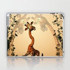 Funny giraffe  Laptop & iPad Skin