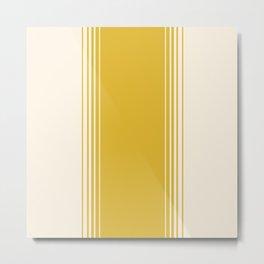 Marigold & Crème Vertical Gradient Metal Print