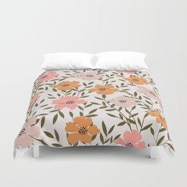 70s Floral Theme Duvet Cover