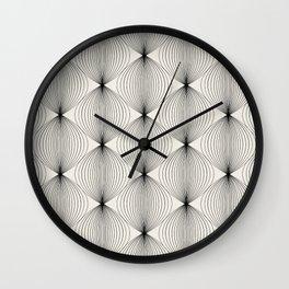 Geometric Orb Pattern - Black Wall Clock