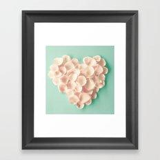 rose petals heart Framed Art Print