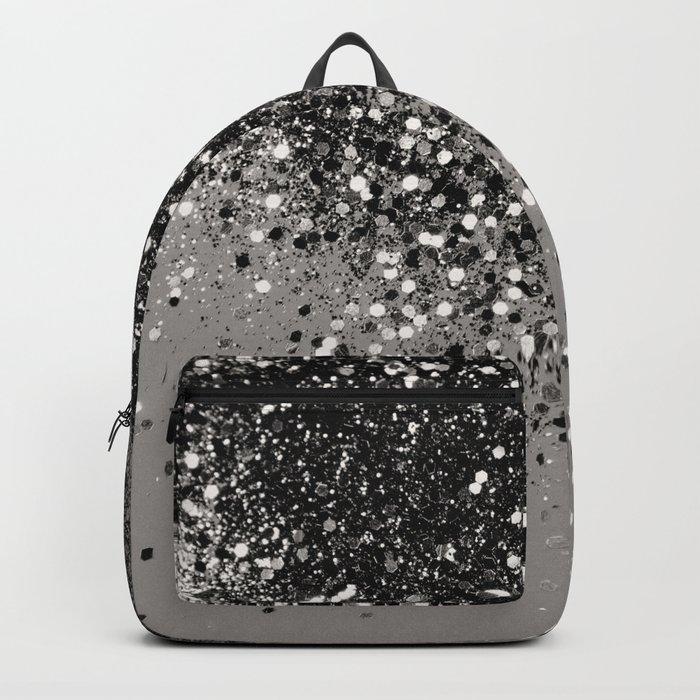Silver Gray Glitter #1 #shiny #decor #art #society6 Backpack