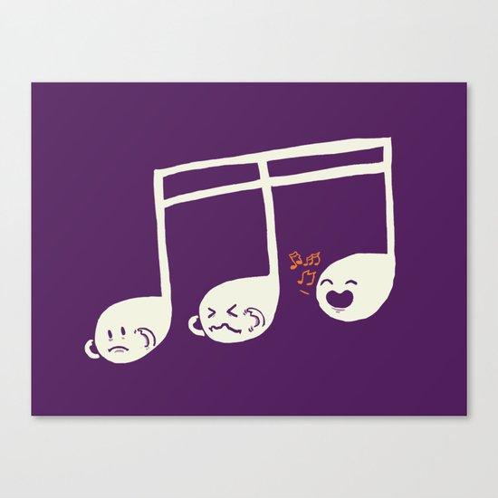 Sounds O.K. (off key) Canvas Print