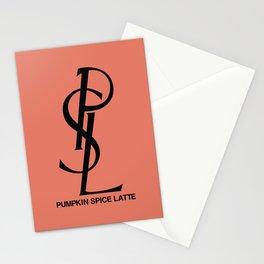PSL Pumpkin Spice Latte Stationery Cards