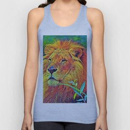AnimalColor_Lion_005_by_JAMColors Unisex Tank Top