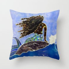 Lady of the Atlantic Crossing Throw Pillow