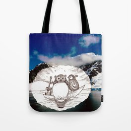 Travel with Polar Bear  Tote Bag