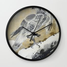 Eagle Holding Small Bird - Digital Remastered Edition Wall Clock