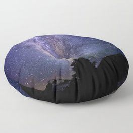 The Milky Way Violet Blue Floor Pillow