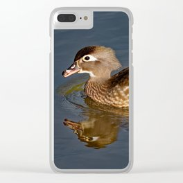 Female Wood Duck Calling Clear iPhone Case