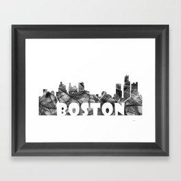 Massachussets Skyline BG2 Framed Art Print