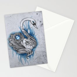 A swan for a swan Stationery Cards