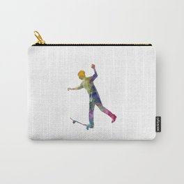 Man skateboard 06 in watercolor Carry-All Pouch