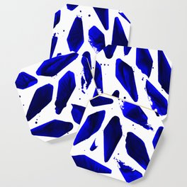 Cobalt Blue Ink Blots Coaster