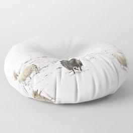Icelandic Sheep V Floor Pillow