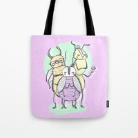 bugs Tote Bags featuring Bugs by Sonia Lazo