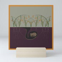 Field Mouse + Northern Sea Oats Mini Art Print