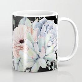 Night Succulents Coffee Mug