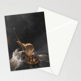 Christ in the Storm on the Sea of Galilee Stationery Cards