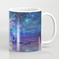 discount Mugs featuring Ocean, Stars, Sky, and You by Melissa Hui Wang (muddymelly)
