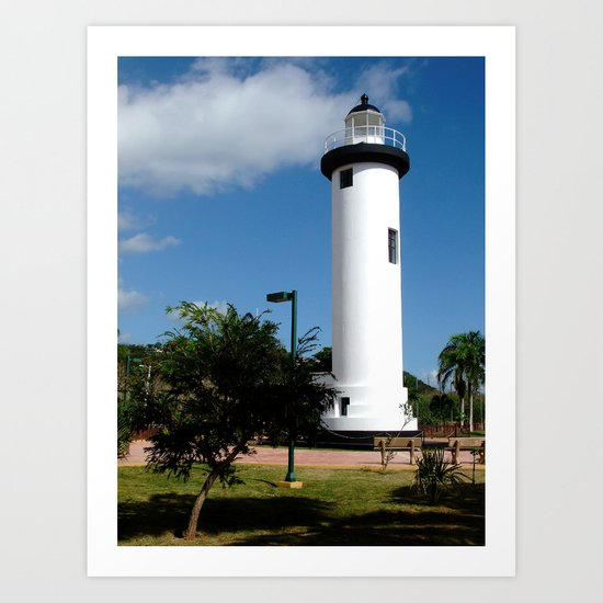 Old Lighthouse @ Rincon Art Print