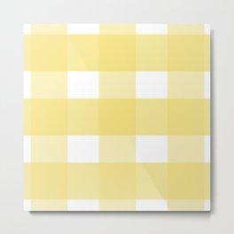 Yellow checkered pattern Metal Print