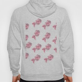 shoal of silver and pink fish Hoody